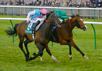 Questioning William Buick wins from Twice Over - Tom Queally The Weatherbys Earl of Sefton Stakes Newmarket The Craven Meeting 19/4/2012 ©Pic Mark Cranham